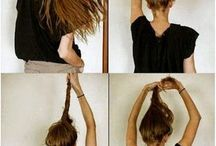 Hair Styles / Quick hairstyles, Quick and easy hair styles for moms, quick updo, hair-dos, hair styles, hair color, hair tips, quick hair-dos, quick hair styles, cute hair styles, braids