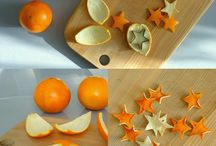Sterne aus Orangenschalen