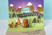 Card caravan stamp