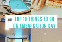 Things to do on embarking