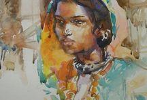 Watercolor portrets