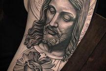 Jesus Black and gray