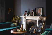 dark and elegant interiors