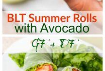 blt summer rolls with avocado