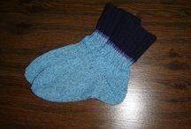 ručně pletené ponožky / pletení