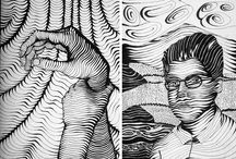 Desenhar com LINHAS/TRAMAS Preto/BRANCO