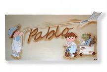 Colección Juegos-Cuadros Infantiles Personalizados / Colección Juegos de cuadros infantiles artesanales y personalizados en www.kdekids.com