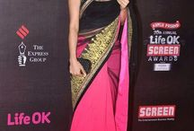 Sophie Chowdhry Pink Bollywood Replica Saree