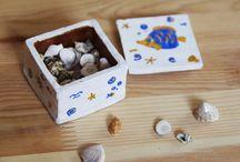 Глиняная шкатулка / Шкатулка из глины обоженная в дровяной печи