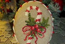 Cross Stitch  - -  Candy Canes