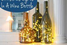 glass bottles light