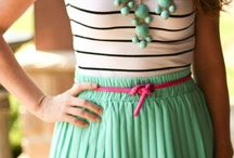 Mint and sea green skirt