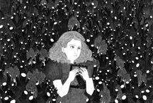Ilustración / Ilustración blanco y negro, Ilustración infantil, childrenillustration, lij, illustration black and white, illustratori, Ilustración tradicional, ilustración chilena, Andrea Mahnke