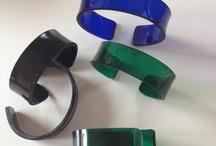 Acryl Smykker/Armcandy/Braclet / Acryl smykker i flotte ensfavet og transparente farver