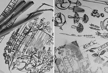Bobbie Print Original Drawings and Illustrations