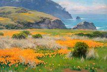 Bushes painting