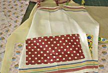 tea towels into apron