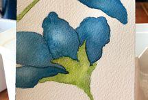 aquarell virágok