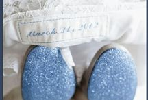 """Blue Wedding / The saying goes """"something old, something new, something borrowed, something blue, and a silver sixpence in her shoe."""""""