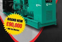 Latest Offers / A Board to showcase previous special offers for diesel generators.