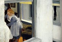 Hopperesque / Paintings by and images in the style of Edward Hopper.