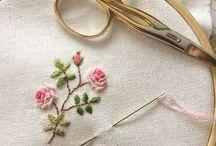 Вышивка (цветочные композиции )