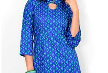 Printed Cotton Kurtis / Explore the simple & sober collection of printed cotton kurtis starting from just Rs. 730. Pick your favorite now from http://www.mishreesaree.com/Online/kurtis