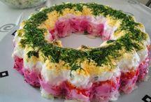 Salad tourtes