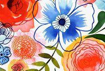 Watercolor Flores