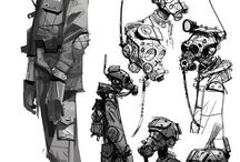 Post-apocalypse / Inspiration for post-apocalypse character concepts art and general inspiration.