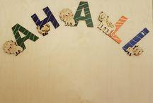 Çocuk Duvar Süsü / Özel tasarım sevimli ahşap harfler