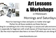 Art Lessons / Have fun learning to draw and paint, no matter what age! Perfect for all those creative souls out there that are looking for something to do in the mornings in a secure and safe environment. But the most important idea here is to have FUN while you are doing it!