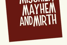 Mischief, Mayhem and Mirth / The publishing company I started specializing in physical and digital books of an illustrative nature. I'd list the url –http://mischiefmayhemandmirth.com – however it points to this pin board. Published works for sale will be added here as they launch.
