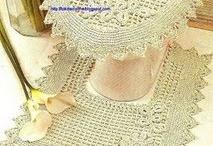 Juego de baño en crochet o pintadas