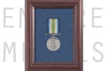 Framed Medals / Military medals displayed in frames