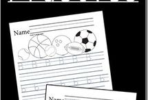 Writing Printables / Printables to help children learn to write. Writing prompts, journal pages, printables for handwriting, and more!