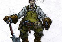 Goblin Soviet Mechanic Troops Costume