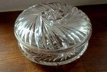 Art Deco Lidded Crystal Jar