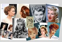 1950's Hairstyles, make up, fashion, artists and musicians