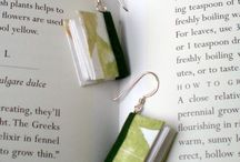 small book jewelry / Miniature handmade book earrings and pendents made out of decorative paper. Perfect for librarians, book lovers, and teachers. Visit smallbookcompany.etsy.com for more information. / by Nicolette Tallmadge | Handmade Jewelry