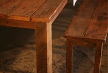 Reclaimed Wood Tables / These are ideas of heavy reclaimed wood coffee tables