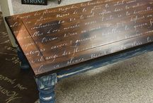 stencilled coffee tables