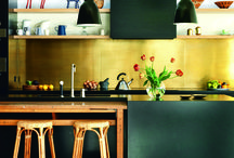 Brass / Copper kitchen splashback