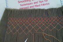 Smocking and other decorative stitches