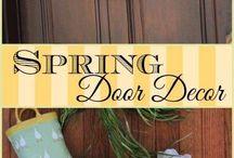 Entry way/door decor ideas