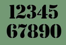 fonts,digits