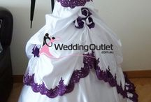 Purple and White Wedding Dresses / Purple and White Wedding Dresses