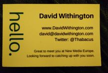 Remarkable Business Cards / Business cards I'm handed by real people which I think are remarkable