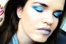 Light moon make-up / Modré stínování