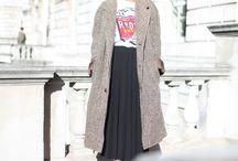 ■pleated skirt